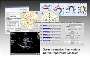CardioReportware Sample Screens